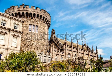 Dublin kastély Írország panorámakép kilátás kert Stock fotó © borisb17