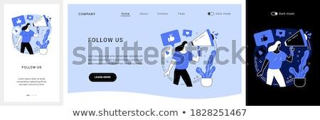 érintés leszállás oldal email marketing internet Stock fotó © RAStudio