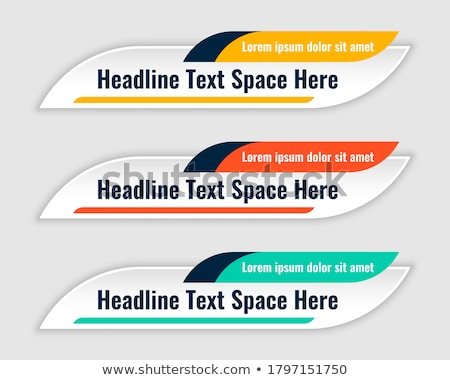 set of three modern lower third banner template Stock photo © SArts
