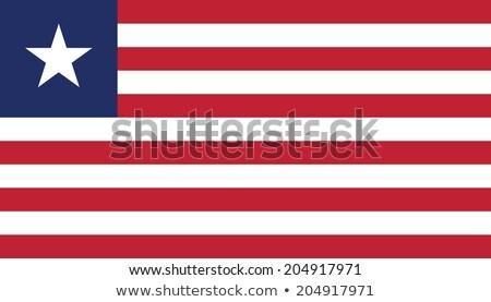 Liberia flag, vector illustration Stock photo © butenkow