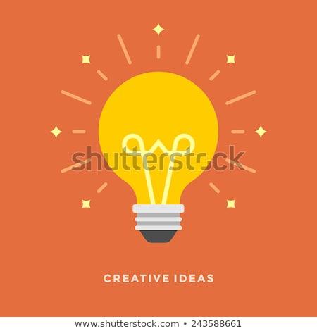 świetle lampy twórczej pomysł żarówki stronie Zdjęcia stock © designer_things