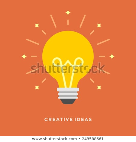 Licht lamp creatieve idee lamp website Stockfoto © designer_things