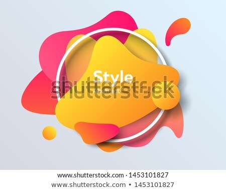 Abstract fluid shapes with frame borders orange background Stock photo © barsrsind