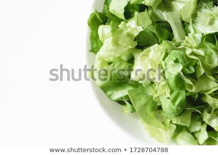 cutting lettuce stock photo © pressmaster