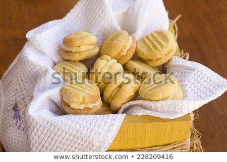 Melting Moments shortbread biscuits Stock photo © lovleah