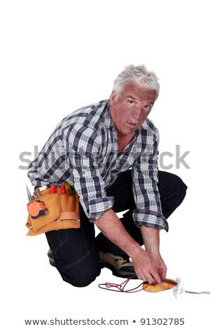 Technician who got an electrical shock Stock photo © photography33