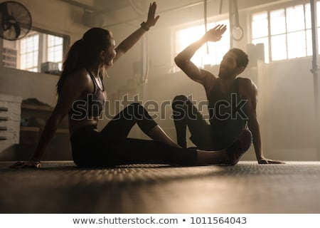 Young couple in the gym Stock photo © photography33