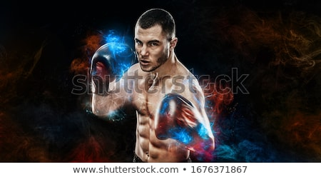 Man boksen strijd geïsoleerd witte vak Stockfoto © wavebreak_media