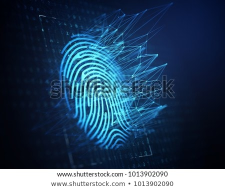 Fingerprint on digital blue background Stock photo © wavebreak_media
