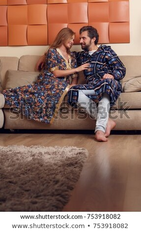 çift · deri · elbise · ayakta · moda · bakıyor - stok fotoğraf © feedough