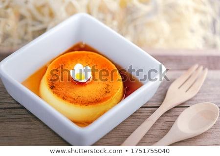 Caramelo postre frescos crema gastronomía pudín Foto stock © M-studio