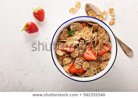 Sağlıklı kahvaltı kepek yeşil çanak Stok fotoğraf © raphotos