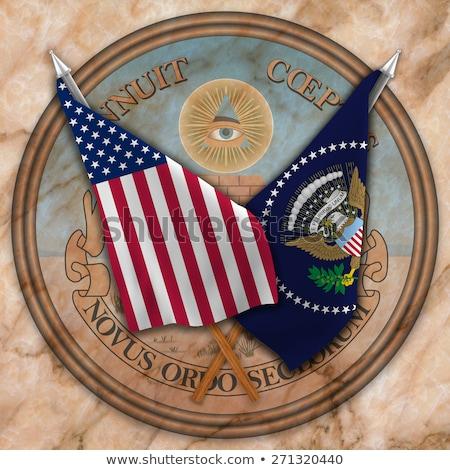 United States wood presidental seal Stock photo © patrimonio