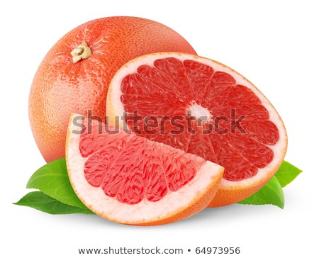 Three pink grapefruit segments Stock photo © raphotos