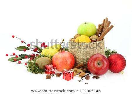 apple anise nuts christmas ball and cinnamon Stock photo © Rob_Stark
