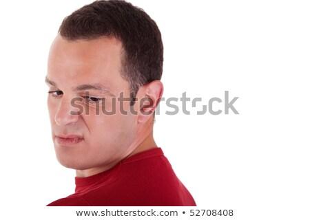 man to turn around, looking with contempt, Stock photo © alexandrenunes