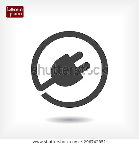 electric plug sticker icon Stock photo © nickylarson974