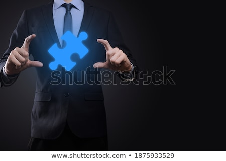 composite image of businessman holding his hands out stock photo © wavebreak_media