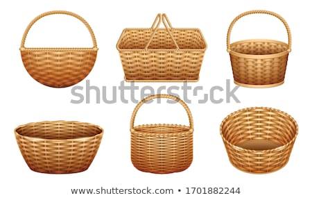 Decorative, hand-made wicker basket. Stock photo © justinb