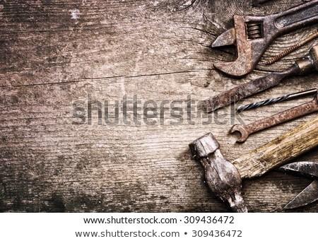 enferrujado · ferramentas · pequeno · arquitetura · negócio · madeira - foto stock © blanaru