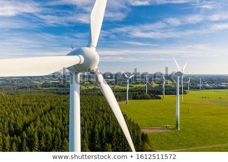 panorama · illustrazione · verde · sostenibile · energie · rinnovabili - foto d'archivio © viva