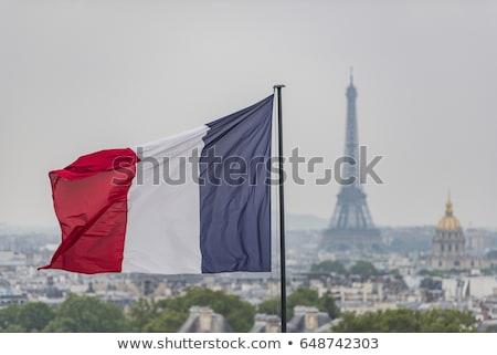 Paris · Fransa · ufuk · çizgisi · şehir · siluet · Bina - stok fotoğraf © ojal