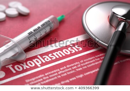 Toxoplasmosis. Medical Concept on Red Background. Stock photo © tashatuvango