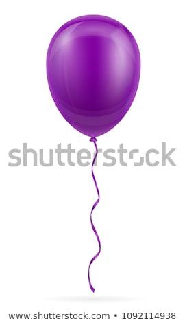 Desenho animado roxo balão ilustração isolado branco Foto stock © hittoon
