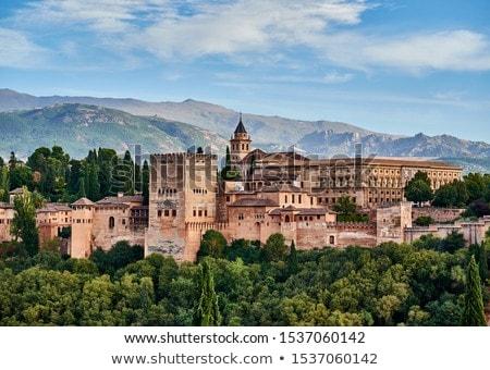 крепость Альгамбра Испания дерево саду зеленый Сток-фото © neirfy