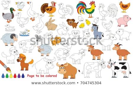 Gry szablon gospodarstwa ilustracja charakter tle Zdjęcia stock © colematt