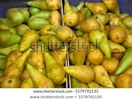 Grupo peras mercado verde agricultura frescos Foto stock © boggy
