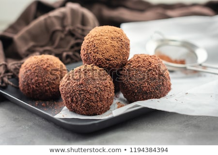 caseiro · chocolate · escuro · mármore · topo · ver - foto stock © elly_l