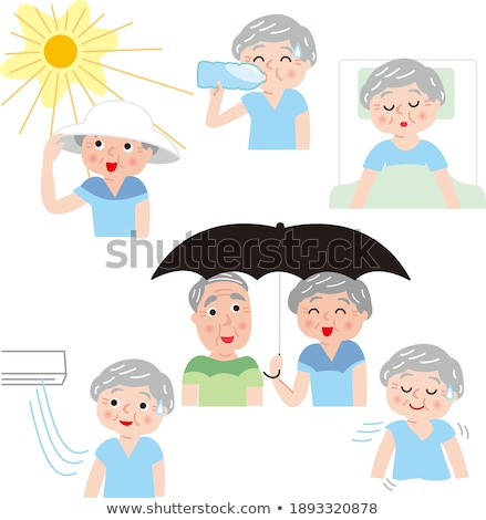 Summer heat stroke father set Stock photo © Blue_daemon