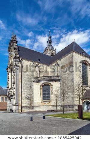 Manastır Belçika ev Bina kırmızı tuğla Stok fotoğraf © borisb17