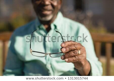 старший человека зрелище парка Сток-фото © wavebreak_media
