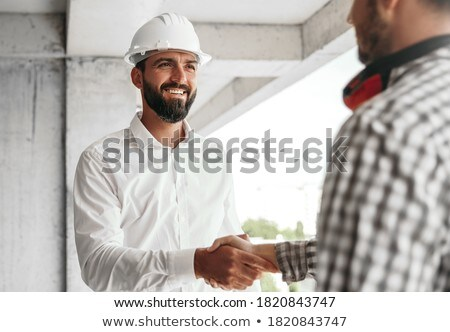 Handshake budowa akceptacja budynku człowiek spotkanie Zdjęcia stock © Kzenon