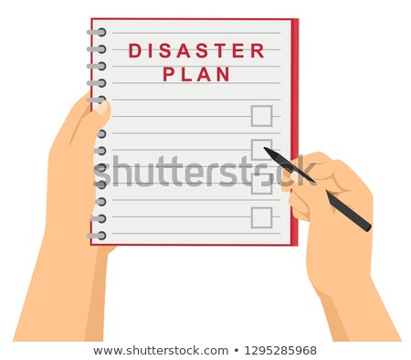 Hands Check Disaster Plan Illustration Stock photo © lenm