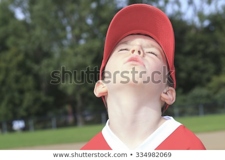 children baseball player don't want to play Stock photo © Lopolo