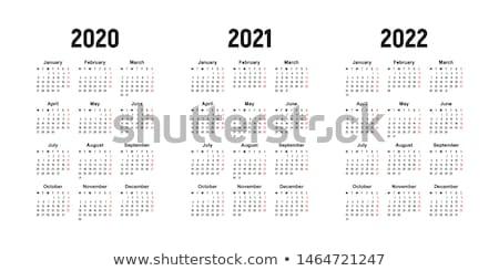 Novo vetor calendário começar simples negócio Foto stock © blumer1979