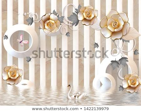 Luksusowe bukiet różowy róż marmuru piękna Zdjęcia stock © Anneleven