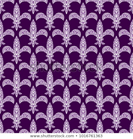Mardi gras fleur de lys vector decorated seamless pattern. Stock photo © yopixart
