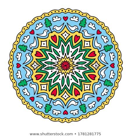 Colorful cute Mandalas. Decorative unusual round ornaments. Stock photo © Natalia_1947