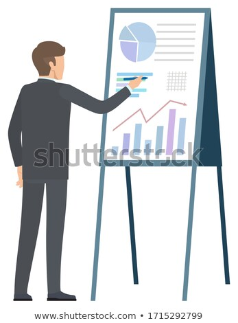 Guy and Investment Trades Solution to Rich Benefit Stock photo © robuart