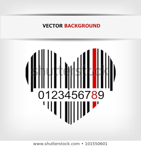 heart with bar code label stock photo © adrian_n