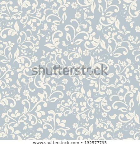 öreg virágmintás minta papír fotó régi papír Stock fotó © sumners