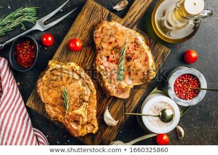 Gemarineerd ruw varkensvlees kruiden specerijen Stockfoto © zhekos