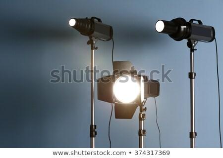 Stúdió villanás állvány használt profi fotós Stock fotó © jarp17