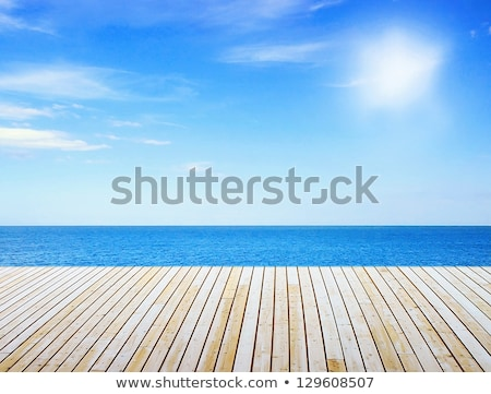 detail view of beautiful old wooden pier stock photo © bertl123