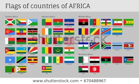 Gomb déli Szudán térkép zászló csillag Stock fotó © Ustofre9