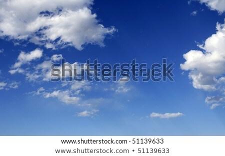 Kék tökéletes égbolt fehér felhők napos Stock fotó © lunamarina
